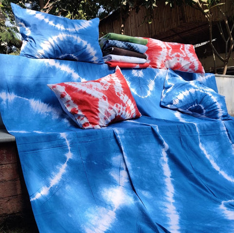 Restocked! Shibori Tie-Dye Cotton Double Bed Cover Sets