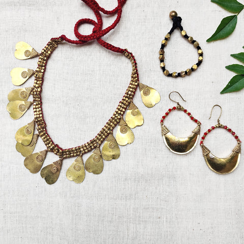 Tribal Odisha Dokra Necklaces, Earrings, Anklets & Bracelets
