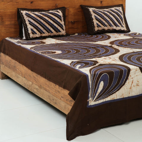 Hand Batik Print Cotton Bed Covers by Wasim