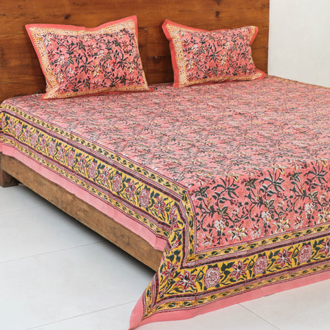 Sanganeri Block Print Pure Cotton Bed Covers by Uttam Nagar