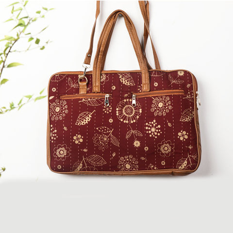 Kantha Work Ajrakh & Marudhara Block Print Bags, Clutches & Wallets