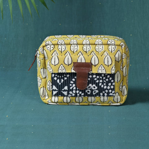 Quilted Toiletry Bags & Kantha Work Fridge Handle Covers by Asalkaar