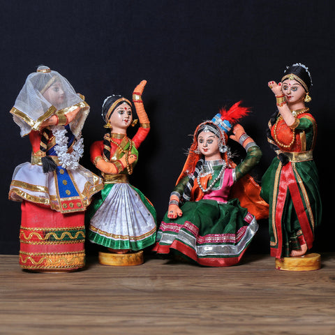 Traditional Handmade Dancing Dolls from Bengal