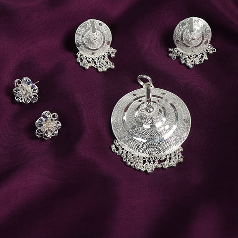 Kalinga Filigree Sterling Silver Necklace Pendant Sets & Earrings