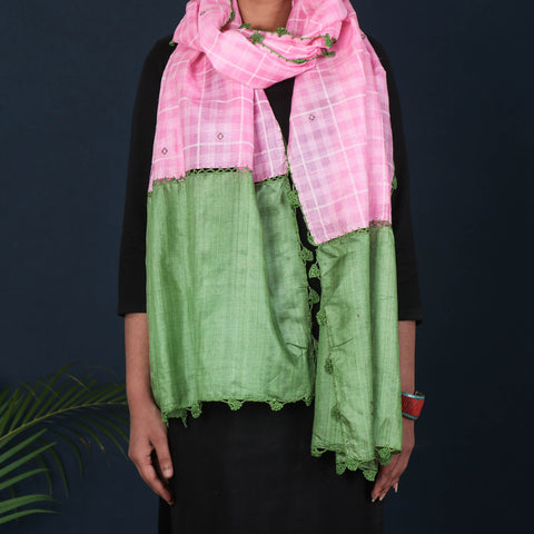 Pure Handloom Tye-Dye Silk & Cotton Stoles, Towels