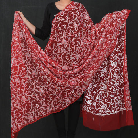 Lucknow Chikankari Hand Embroidered Full Jaal Georgette & Cotton Dupattas