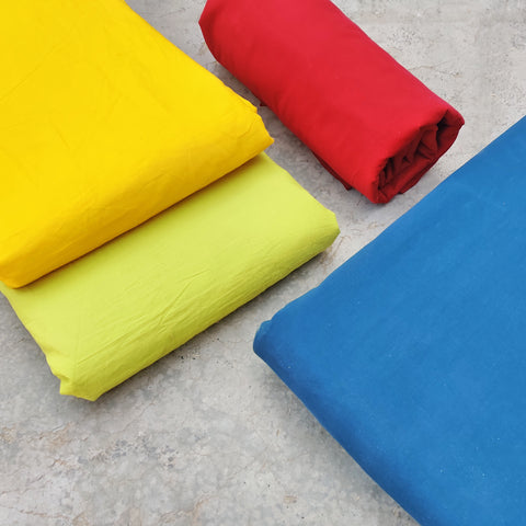 Pre Washed Plain Dyed Pure Cotton Fabrics