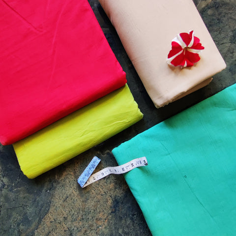Pre-Shrunk Mangalgiri Handloom Pure Cotton Fabrics by DAMA