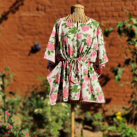 Hand Block Printed Cotton Kaftans by Chutney Craft Studio