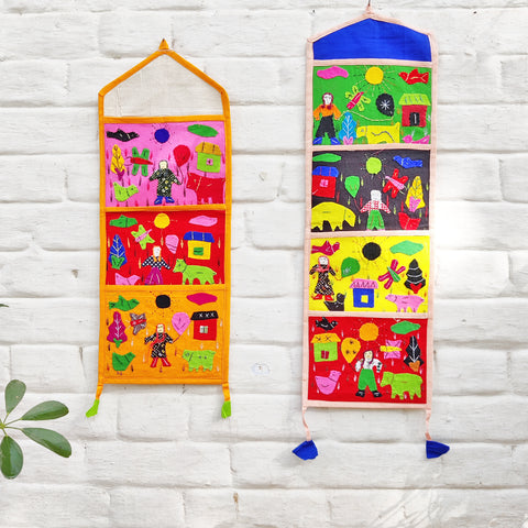Pipli Applique Work Pouches, Shoulder Bags & Letter Holders from Orissa