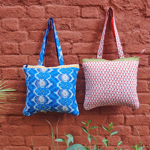 Handcrafted Quilted Toiletry & Shoulder Bags by Purkal Stree Shakti Samiti, Dehradun