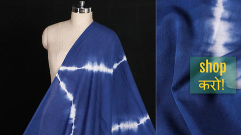 Shibori Tie-Dye Pure Cotton Fabrics by Haveli Chronicles