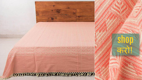 Pure Cotton Handloom Double Bedcovers from Bijnor by Nizam