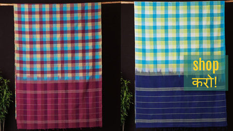 Traditional Chettinad Kandaangi Pure Cotton Sarees from Tamil Nadu