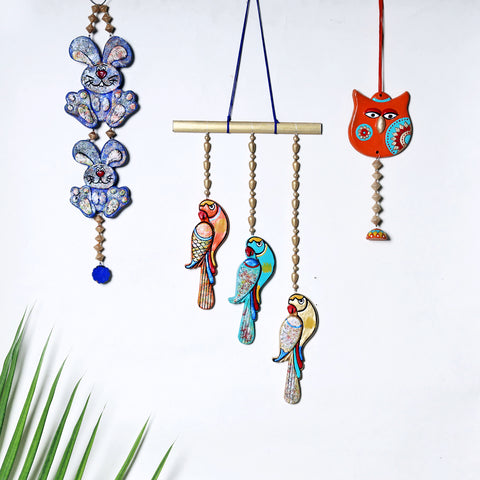 Bishnupur Handpainted Terracotta Wall Hangings by Kasturi