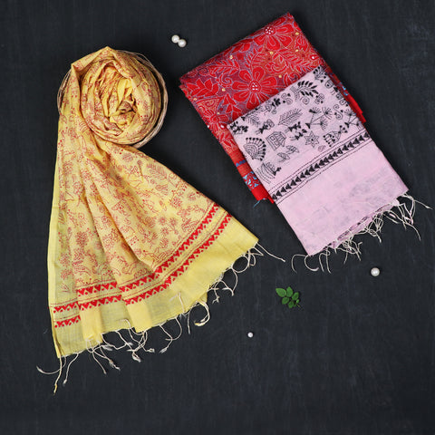 Bengal Kantha Embroidered Silk Handloom Dupattas