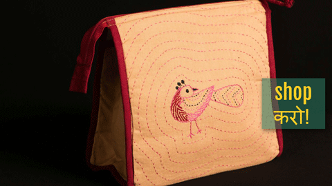 ❃ Kantha work Cosmetic Bags /Toilet pouches ❃