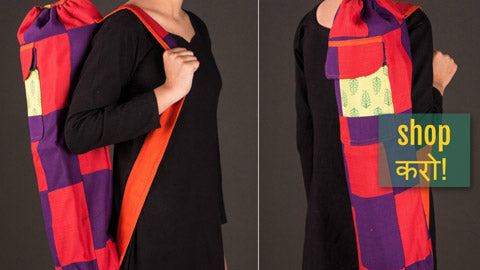✾ Patchwork Yoga Mat Bags by Jugaad ✾