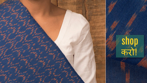 ❁ Handloom Pochampally Ikat Cotton Fabrics by A.G. Govardhan ❁