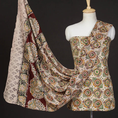 Kalamkari Print Dress Materials