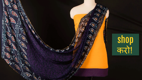 ❃ Cotton Dress Material Set with Chiffon Printed Dupattas ❃