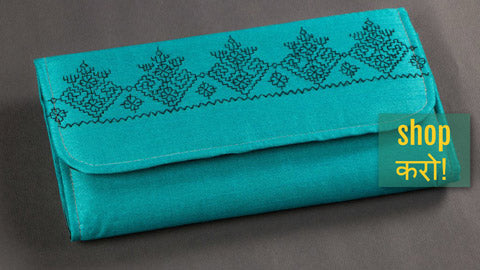 ✩ Clutches with Kasuti Hand Embroidery from Karnataka ✩