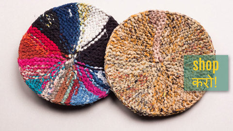✿ Upcycled Fabric Round Trivets by JALPARI ✿