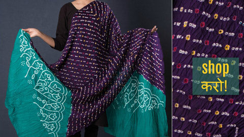 ✾ Bandhani Silk & Cotton Dupattas from Kutch ✾