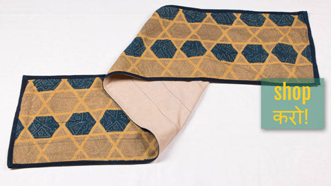 ☘  Ajrakh Block Printed Table Runners from Noori Bazar ☘