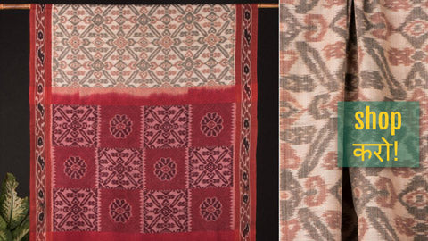 ✾ Sambalpuri Ikat Handloom Cotton Sarees from Odisha ✾