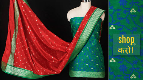 Traditional Banarasi Handloom Silk Suit Sets by Shadab Ahmed
