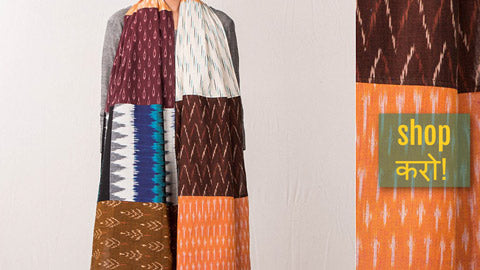 Fabart Ikat Cotton Stoles by Stoles & Scarves