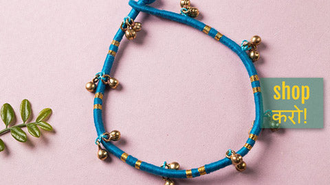 Patwa Threadwork Ghungroo Anklets by Kailash Patwa
