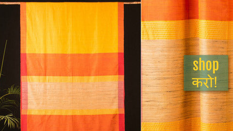 ✾ Handwoven Bengal Pure Silk Sarees by Khushbash - Happy Looms of East ✾
