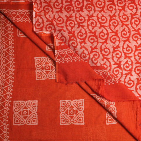 Hand Batik Printed Silk & Cotton Sarees