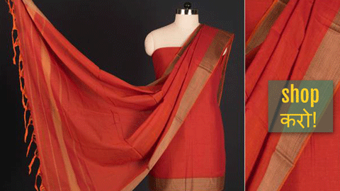 ❁ Dharwad Special Cotton 3pc Dress Material Sets From Karnataka ❁