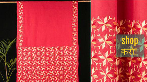 Traditional Silk & Cotton Phulkari Embroidered Sarees by Lajwanti Chabra