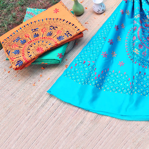 Bengal Kantha Work & Jamdani Sarees in Silk & Cotton