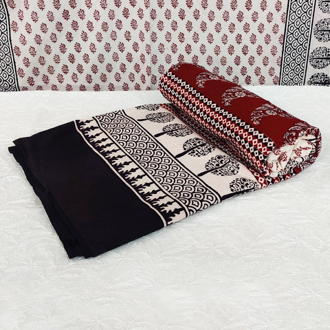 Bagh Hand Block Print Natural Dyed Pure Cotton Bed Covers by Umar Faruk Khatri