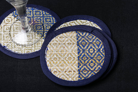 Madur Grass Round Coasters of Midnapur (Set of 6)