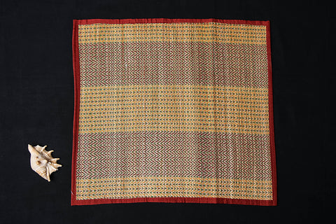 Madur Grass Mat Assan of Midnapur (18 in x 18 in)