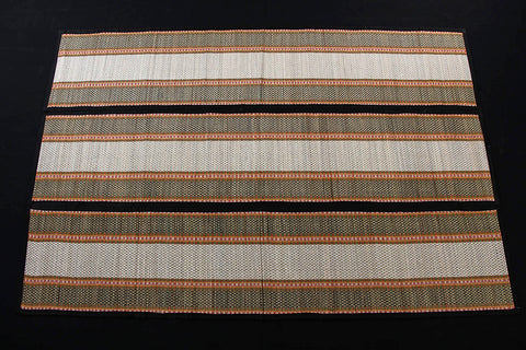 Madur Grass 3 Fold Floor Mat of Midnapur (80 in x 52 in)