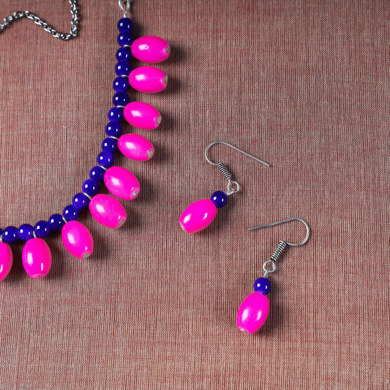 Patwa Bead Work Necklace Set