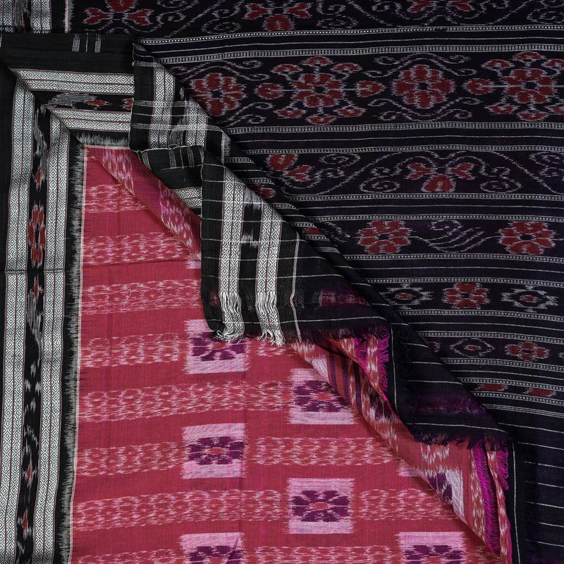 Sambalpuri Ikat Handwoven Pure Cotton Saree