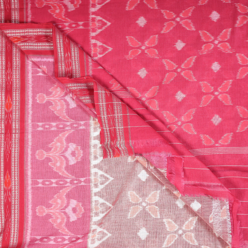 Special Sambalpuri Ikat Handwoven Pure Cotton Saree