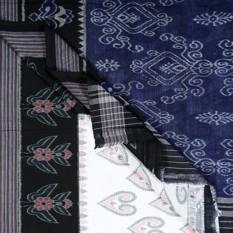 Special Sambalpuri Ikat Handwoven Pure Cotton Saree-