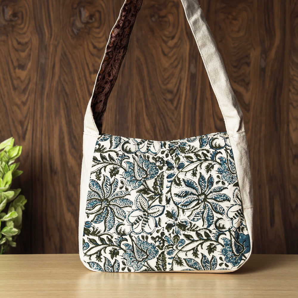 Hand Block Printed Canvas Cotton Sling Bag
