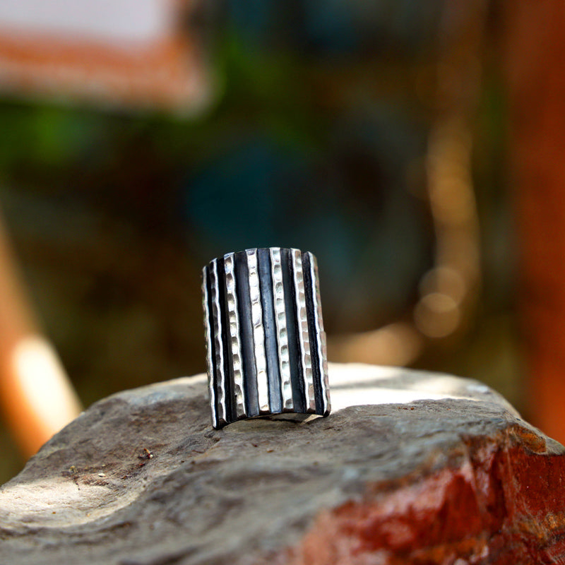 Hilly Sterling Silver Ring (Adjustable)