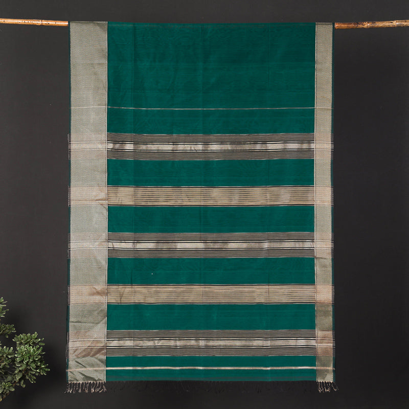 Traditional Chanderi Silk Handloom Saree by Rauph Khan