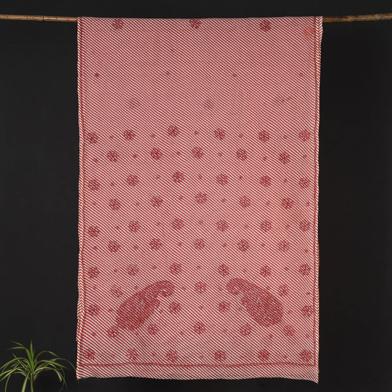 Chikankari Embroidered Leheriya Tie-Dye Kota Doria Saree